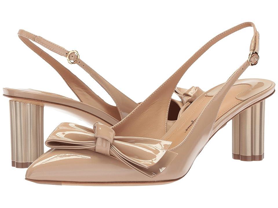 Salvatore Ferragamo Aulla 55 (Almond Patent) High Heels