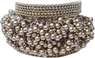 Oxidized Ghungroo Charms Indian Bangle Jewelry Bracelet for Women
