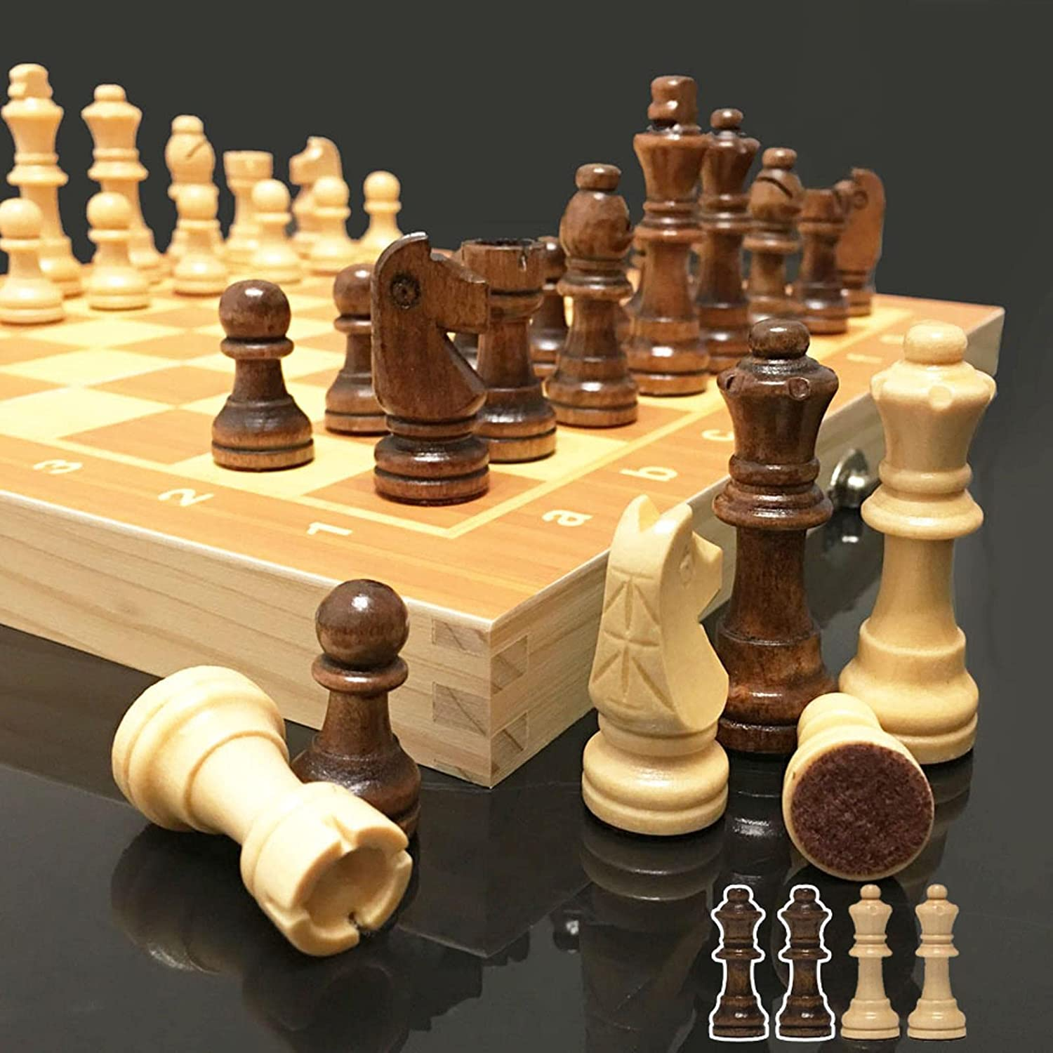 shopping 4 Queens Magnetic Wooden Chess Set Wood Today's only Game International