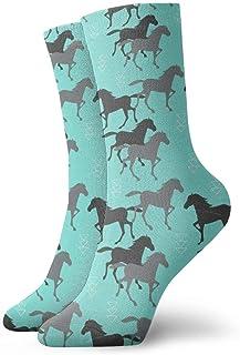 Elsaone, Niños Niñas Locos Divertidos Calcetines de caballos salvajes Calcetines lindos de vestir de novedad