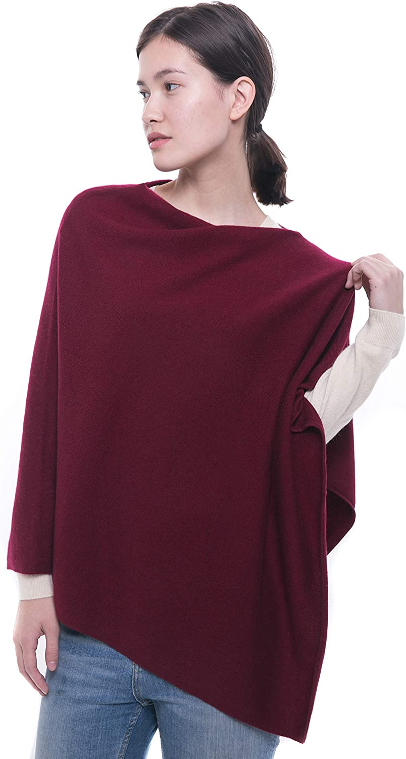 100% Pure Cashmere Poncho  Women's Draped Poncho, Cape and Dress Topper by Goyo Cashmere