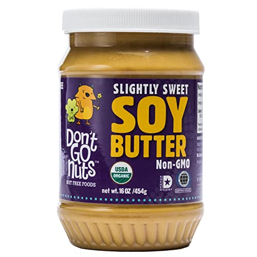 Don't Go Nuts Roasted Soybean Spread, Slightly Sweet, 2Count, Nut-Free Non GMO Organic