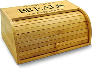 Cookbook People Original Rolltop Bread Box Bamboo Storage Bin