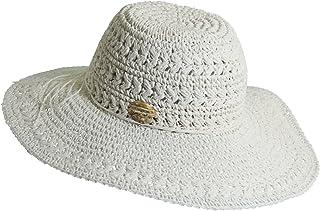 "Women`s Crocheted Toyo Sun Hat with Sizing Tie, 4"" Big Brim"