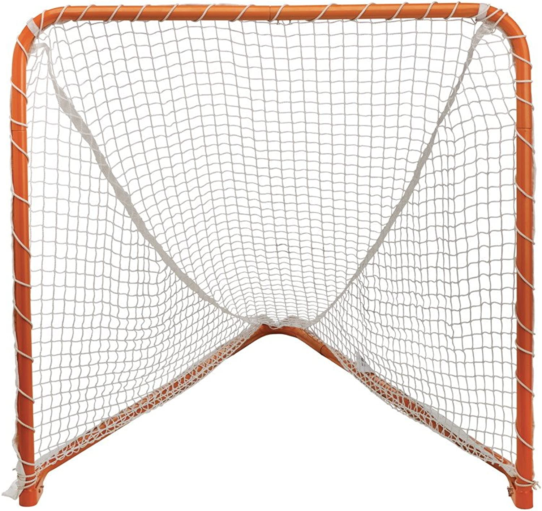 STX Lacrosse Folding Backyard Lacrosse Goal, orange, 4 x 4Feet