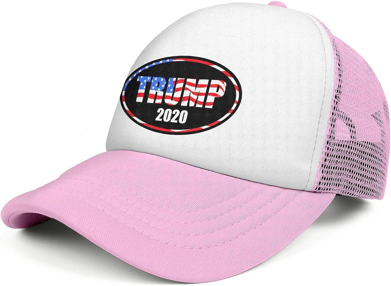 Trump 2020 Men Women Peaked Cap Half Mesh Outdoor Cotton Baseball Hat Adjustable