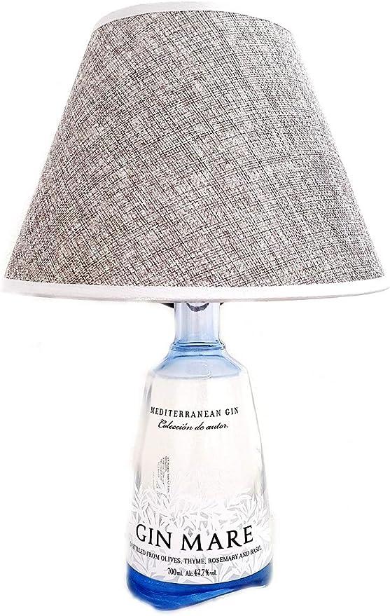 Sicilia bedda - lampada bottiglia liquore completa di paralume - elegante complemento d`arredo (gin mare) B08B42QMYJ