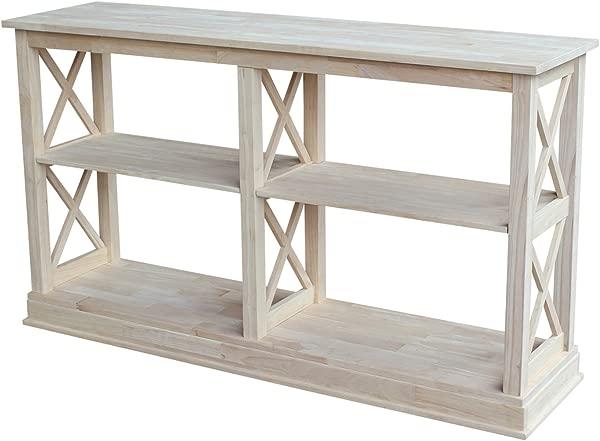 International Concepts Hampton Sofa Server Table With Shelves