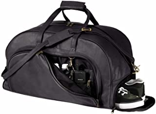 Royce Leather Organizer Duffel Bag with Shoe Compartment