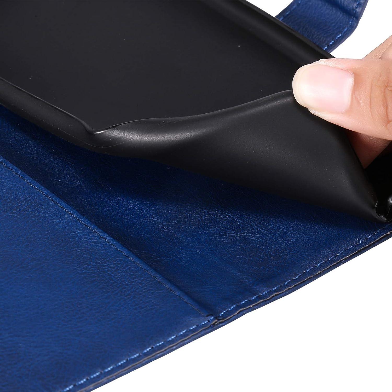Coque pour Galaxy M01//A01 Core Protection Housse en Cuir PU Pochette, Emplacements Cartes DEKT052330 Bleu , Fonction Support pour Galaxy M01//A01 Core Languette Magn/étique ,