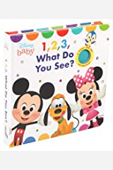 Disney Baby: 1, 2, 3 What Do You See? (Cloth Flaps) Board book