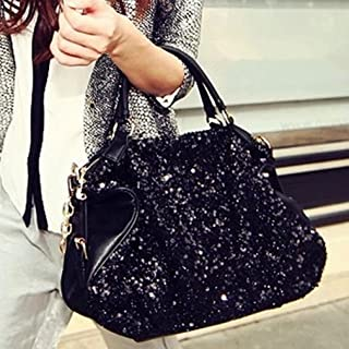 LnLyin Damen Vintage Clutches Geldbörsen Abendtaschen Glitzer Pailletten Handtasche Schultertasche für Hochzeit Braut Absc...