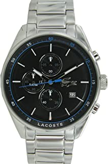 Lacoste 2010788 Stainless Steel Contrast Dial Round Analog Watch for Men - Silver
