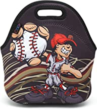 ICOLOR Baseball Boys Insulated Neoprene Lunch Bag Tote Handbag lunchbox Food Container Gourmet Tote Cooler warm Pouch For School work Office