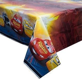 """Unique Disney Cars Plastic Tablecloth, 84"""" x 54"""""""
