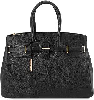 TL Bag - Leather handbag with golden hardware - TL141529 (Black)