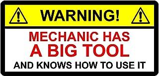 FUNNY TOOLBOX STICKER - MECHANIC HAS BIG TOOL & weet hoe het te gebruiken op MAC SNAP 150mm x 100mm