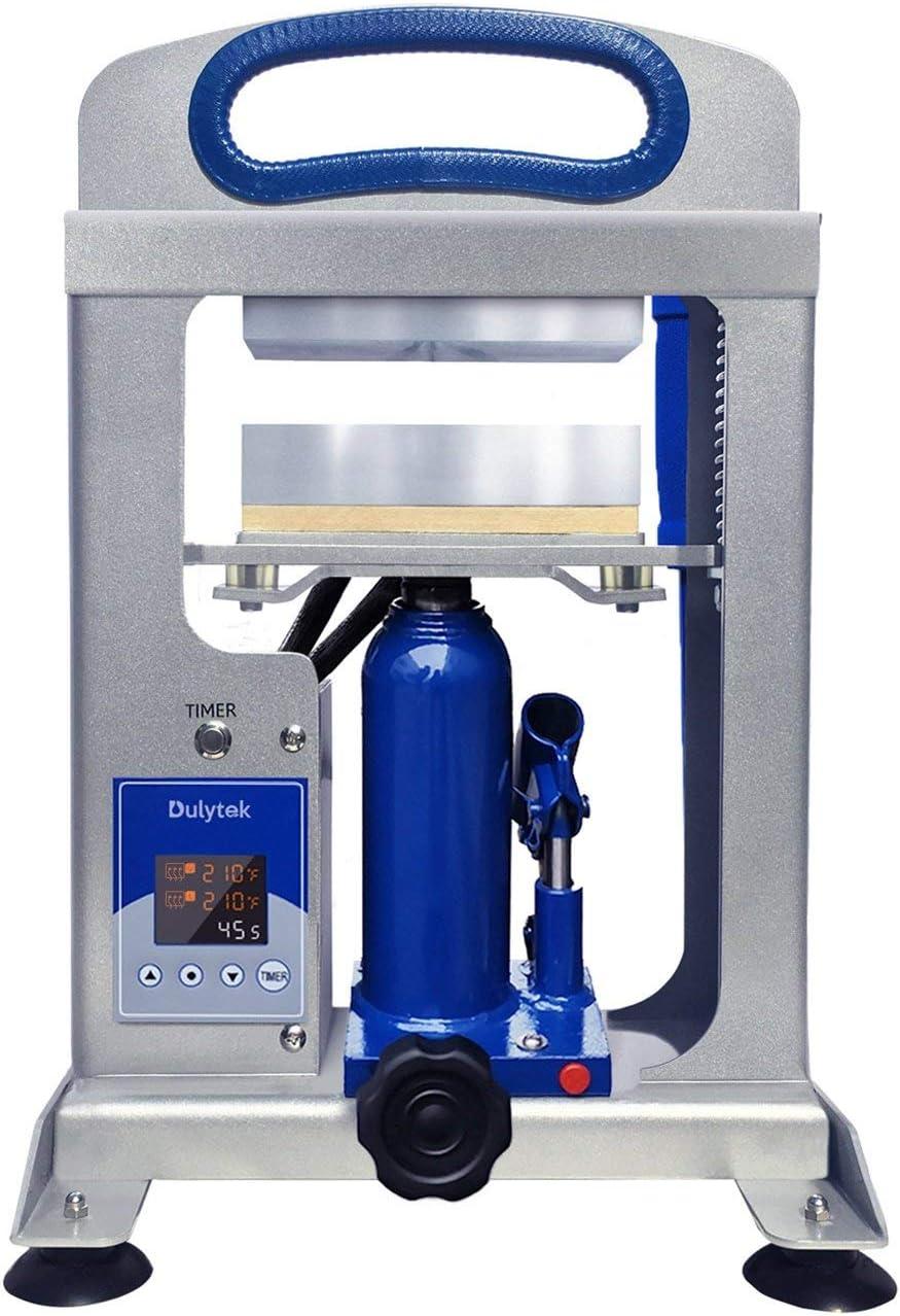 Dulytek DHP7 Hydraulic Heat Press Machine, 7 Ton Pressing Force, Dual Heat 6