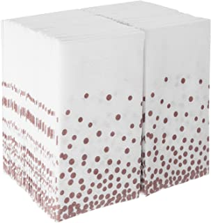 Napkins Bulk For Wedding Reception | Disposable Linen-Feel Guest Towels for Bathroom | Cloth Hand Towel for Powder Room | Paper Guest Towels for Parties, Christmas, Thanksgiving, Fall | 100 Pack