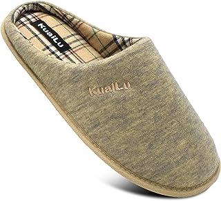 KUAILU Pantofole da Uomo comode Memory Foam Scarpe da Casa Con Suola Antiscivolo Interno/esterno