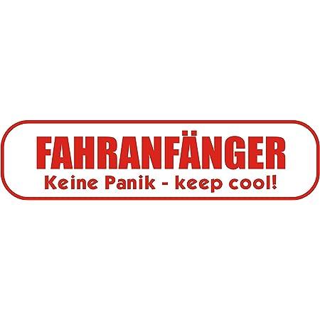 Indigos Ug Magnetschild Fahranfänger Keine Panik Keep Cool 30 X 8 Cm Magnetfolie Für Auto Lkw Truck Baustelle Firma Auto