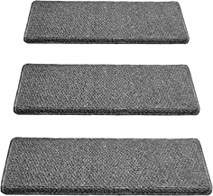 7 Piece Stair Carpet Pads, Adhesive Stair Treads, Non Slip Stair Covers Safety Rug Slip Resistant Indoor Runner for Kids E...
