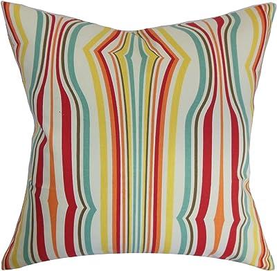 E by design Decorative Pillow Latte Spring Navy