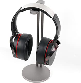DURAGADGET Soporte de Acero para Auriculares Creative Sound Blaster X H7, EVO Wireless, EVO ZxR, EVO, Jam, Tactic3D Rage Wireless V2.0, WP-450. Color Plateado