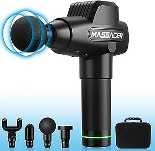 Muscle Massage Gun, HiGoing Muscle Massager Deep Tissue Percussion Handheld Massager Portable Cordless Electric Massager S...