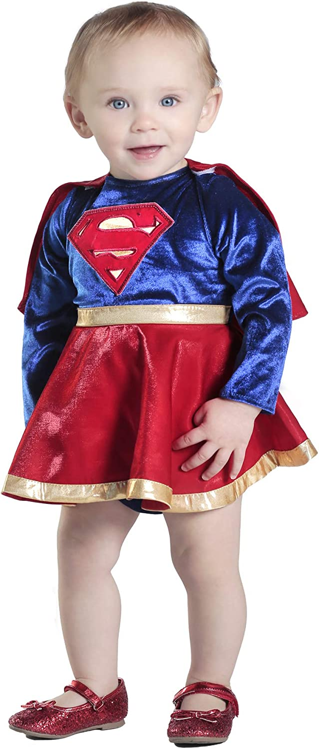 Princess High quality Paradise Baby Popular product Girls' Supergirl Dress Diaper Costume and