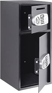 Happybuy Security Safe Box Digital Double Door Security Box Electronic Steel Security Safe for Cash Gun Jewelry Home Secure (Double Door)