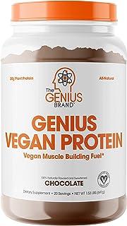 Genius Vegan Protein Powder – Plant Based Lean Muscle Building Shake | Best Pea + Pumpkin Protein Sources – Ideal Lean Bod...