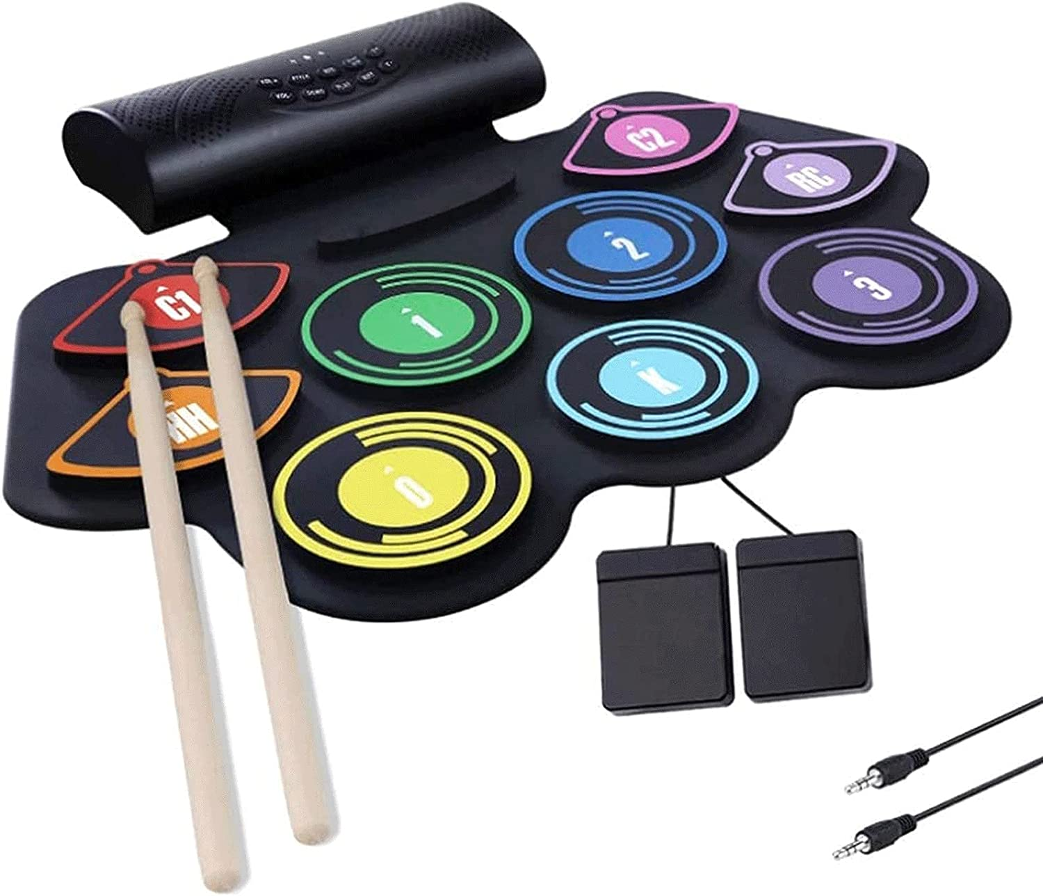 WPHGS Electronic Drum Set Roll Kit Fort Worth Popularity Mall Pad Up Practice wi