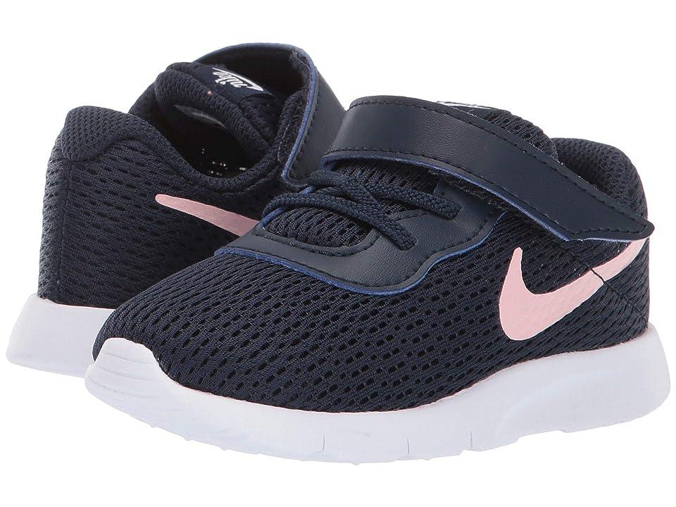 Nike Kids Tanjun (Infant/Toddler) (Obsidian/Bleached Coral/White) Girls Shoes