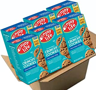 Enjoy Life Crunchy Cookies, Soy free, Nut free, Gluten free, Dairy free, Non GMO, Vegan, Chocolate Chip, 6 Boxes
