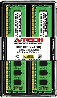 A-Tech 8GB (2 x 4GB) DDR3 1600MHz PC3-12800 Desktop RAM Kit | Non-ECC Unbuffered DIMM 240-Pin Memory Upgrade Modules