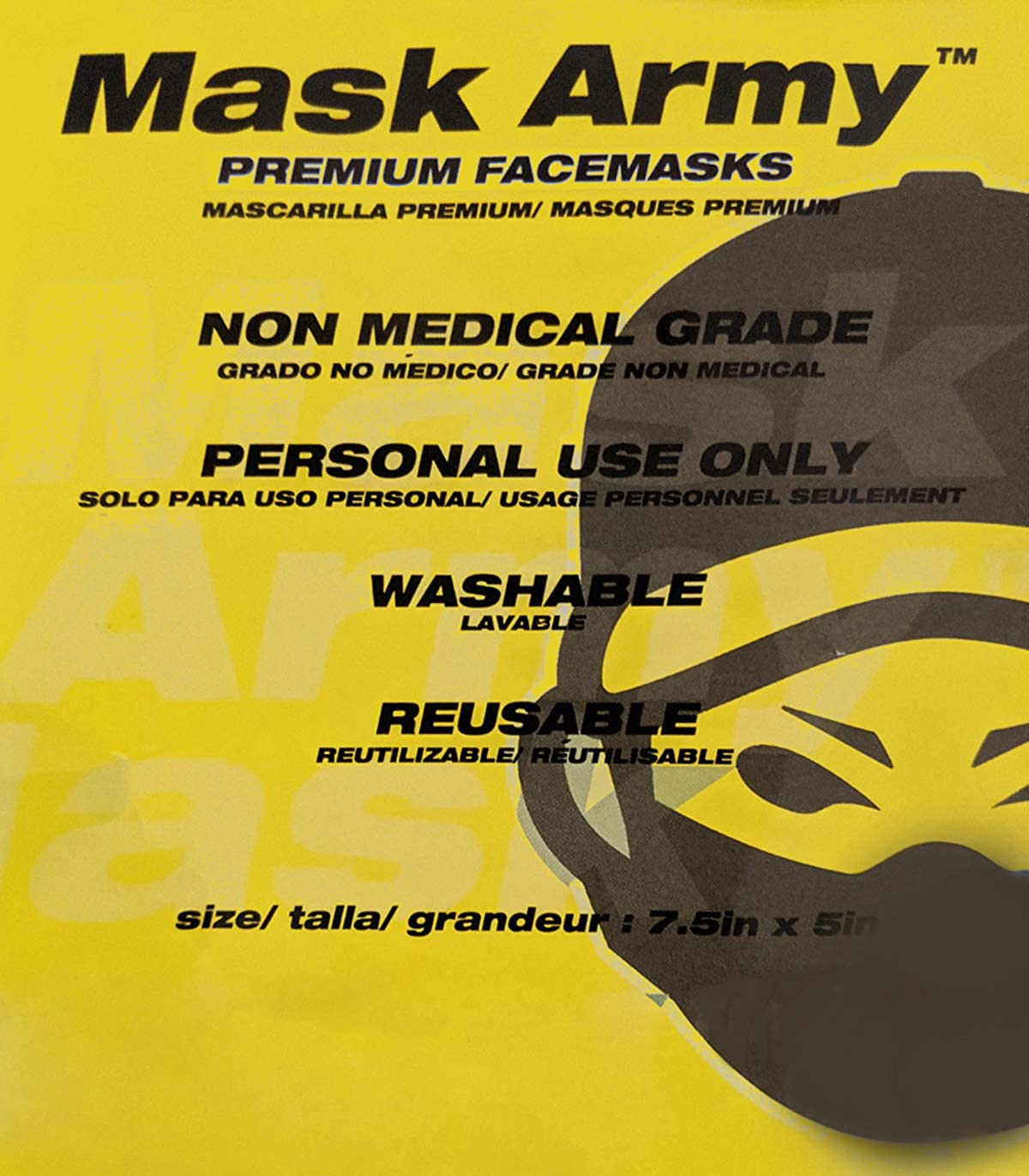 M4SK ARMY 3-Ply Mask for Kids with Nose Clip