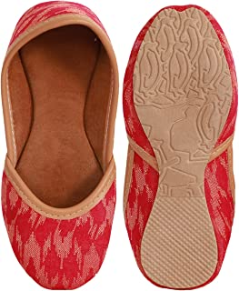 BuzzyBee pattern red ethnic mojaris for girls