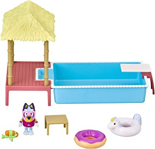 Bluey Pool Time Fun Playset and Figure Toy, Multicolor
