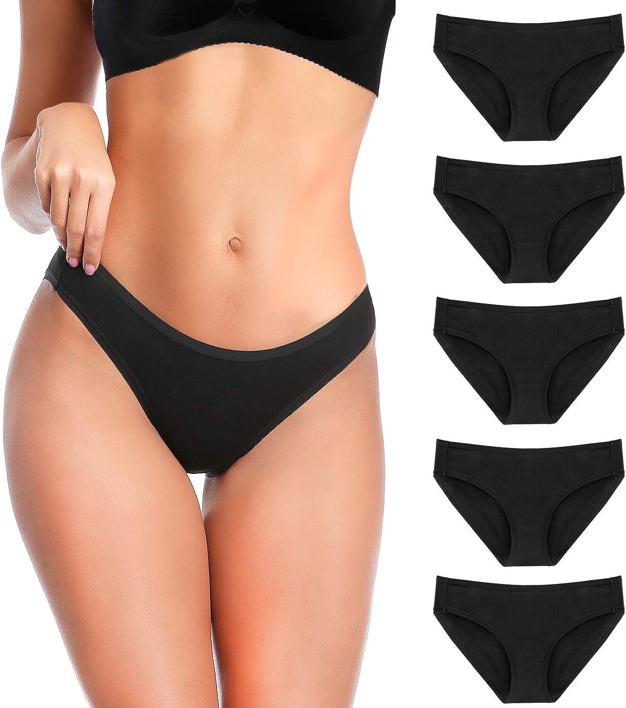 YADIFEN 5 Max 79% OFF 10 Pack Women's Cotton Bikini Pantie Selling rankings Hipster Underwear