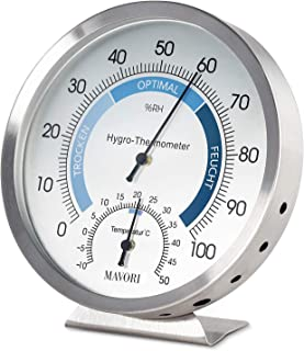 MAVORI® Thermometer Hygrometer innen analog – Temperaturmessgerät und..