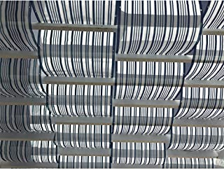 Alion Home Roman Shade Panel Cover HDPE Permeable Canopy for Pergola, Patio, Porch (3' x 16', Dark Grey & White)