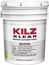 KILZ Klear Multi-Surface Stain Blocking Interior/Exterior Latex Primer/Sealer, Clear, 5 gallon