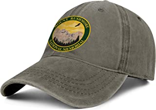 Mount Rushmore National Memorial Denim Hats Women's Men Fun Baseball Hats Adjustable Mesh Driving Caps
