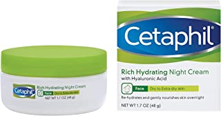 Cetaphil Rich Hydrating Night Cream with Hyaluronic Acid, 1.7 Ounce | ⭐️ Exclusive