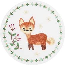 """Panna Satin Stitch Kits - Embroidery Kits - Printed 4"""" x 4"""" or 10 x 10cm - Stumpwork kit - DIY Cross Stich Kit - Cross Stitch Kits - Fun Needlework Pattern (Red Fox)"""