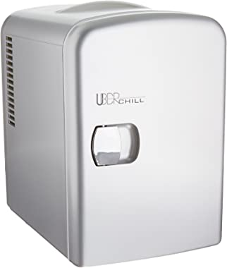 Uber Appliance UB-CH1 Uber Chill Mini Fridge 6-can portable Thermoelectric Cooler and Warmer mini fridge for bedroom, office