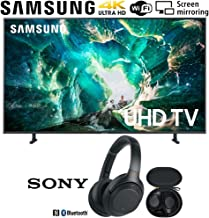 $889 » Samsung UN55RU8000 55-inch RU8000 LED Smart 4K UHD TV (2019) Bundle with Sony WH1000XM3/B Premium Noise Cancelling Wireless Headphones with Mic, Black