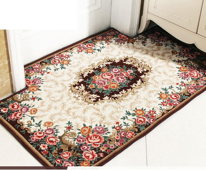Doormat European-Style Floor mats Doormat Door mats [Absorbent],Non-Slip mat-A 70x140cm(28x55inch)