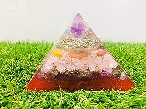 Zaicus Green Aventurine Moonstone Orgone Pyramid with Hexagram Symbol Energy Generator Gemstone for Aura Cleansing Chakras Balancing & Reiki Healing Size 3-3.5 Inch Approx.